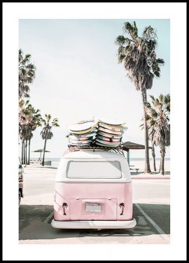 Kalifornien Surf Bus Poster