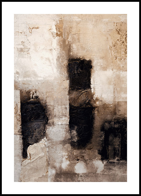 Beige abstract Poster